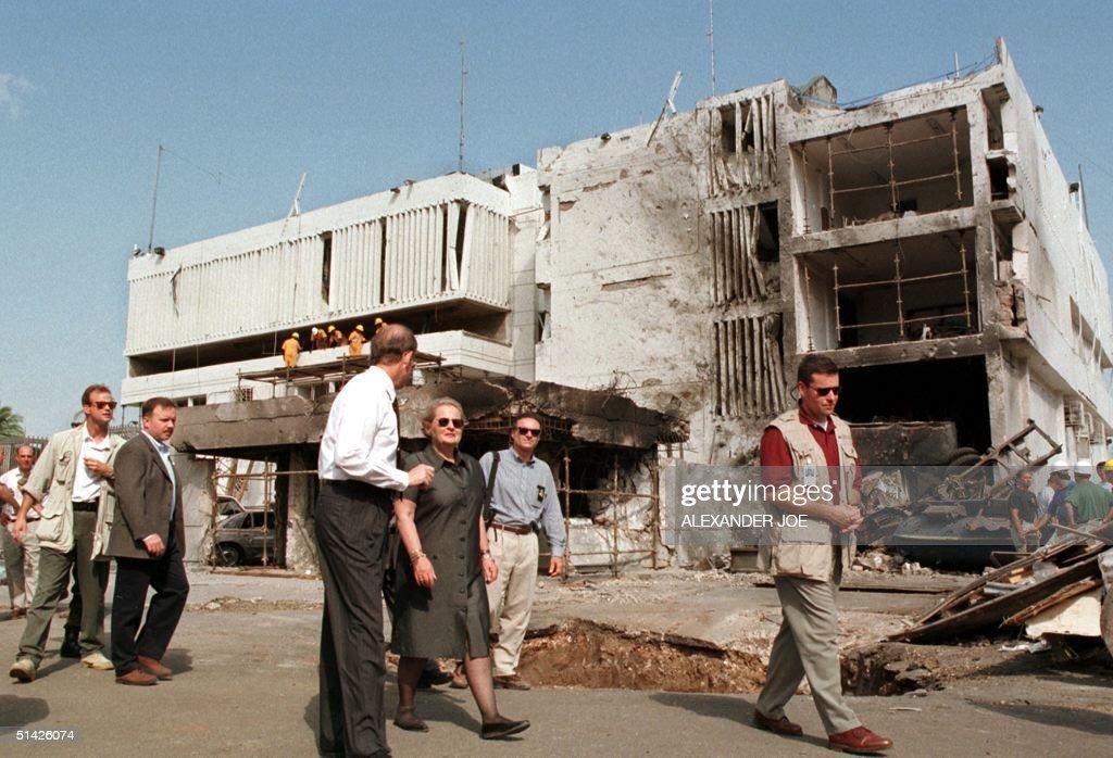 US Secretary of State Madeleine Albright looks 18 : News Photo
