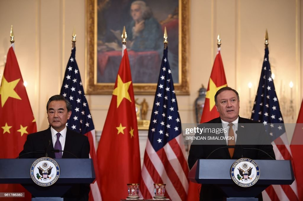 Secretary Of State Mike Pompeo Hosts Foreign Ministers From China, Germany, And Japan At The State Department