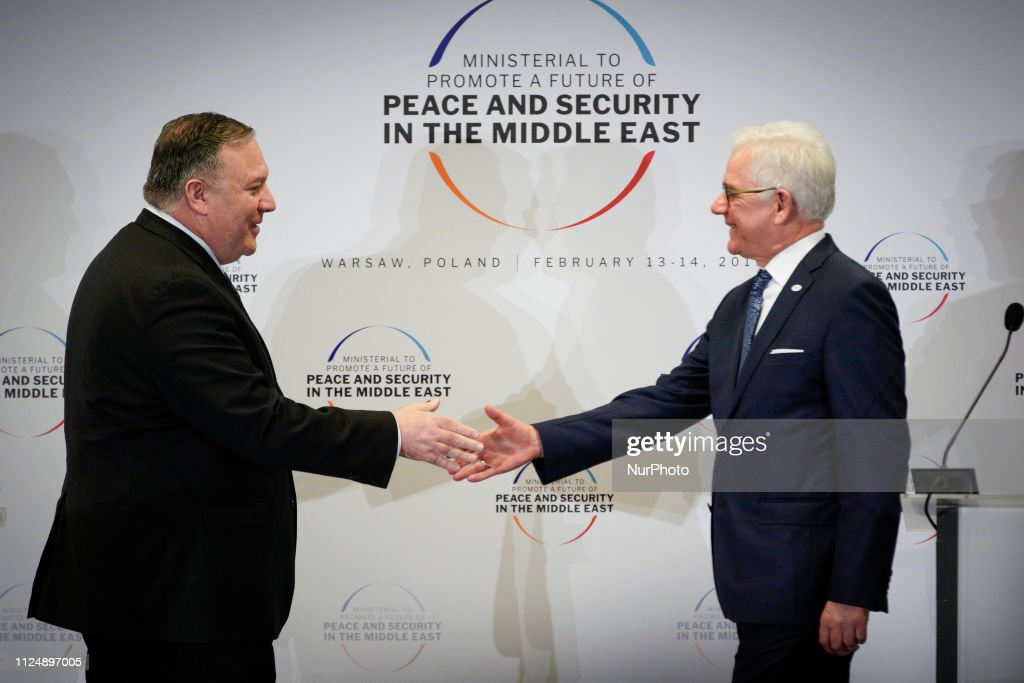 Press Conference Mike Pompeo And Polish FM : News Photo