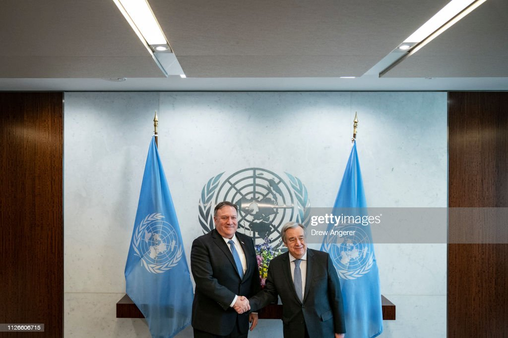 NY: Secretary Of State Pompeo Meets With UN Secretary-General  Antonio Guterres