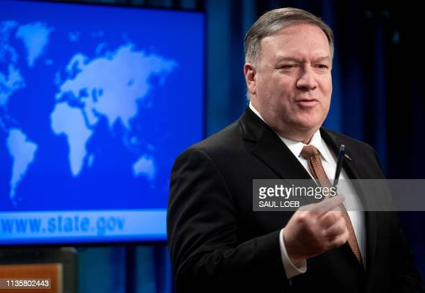 US Secretary of State Mike Pompeo announces that the US will designate Iran's Islamic Revolutionary Guard Corps as a Foreign Terrorist Organization...