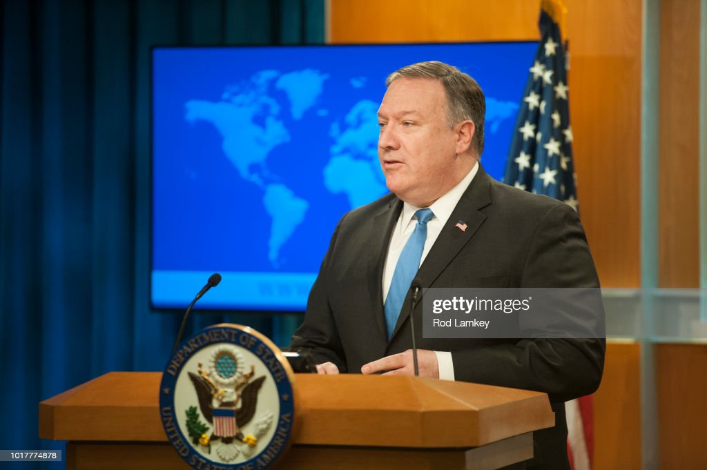 Secretary Of State Pompeo Announces Creation Of New Iran Action Group