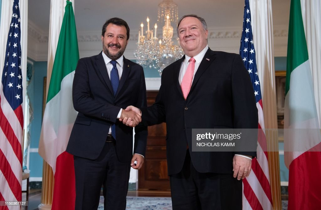 US-ITALY-POMPEO-SALVINI : News Photo