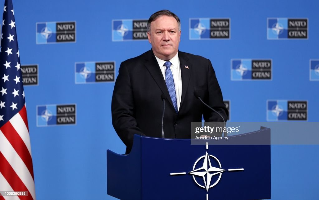 U.S. Secretary of State Mike Pompeo press conference : News Photo