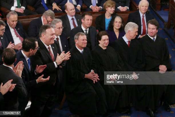 Secretary of State Mike Pompeo Majority Leader Sen. Mitch McConnell , and U.S. Supreme Court justices John Roberts Elena Kagan, Neil Gorsuch, and...