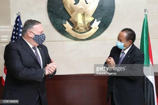 Secretary of State Mike Pompeo meets Prime minister of Sudan Abdalla Hamdok on august 25, 2020 in Khartoum, Sudan.