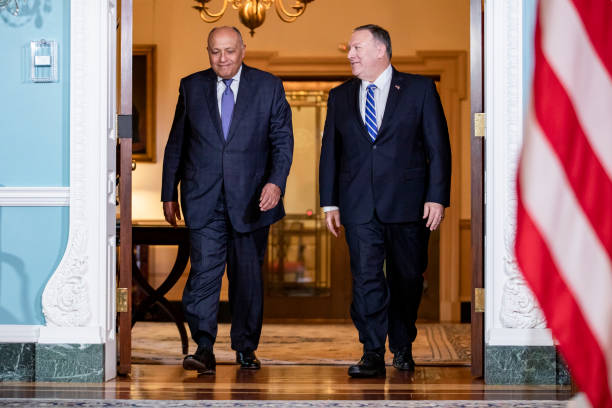 DC: Secretary Of State Pompeo Meets With Egyptian Foreign Minister Sameh Shoukry