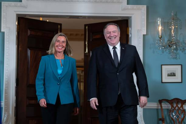 DC: Secretary of State Mike Pompeo Welcomes European Union Rep. Federica Mogherini To The State Department