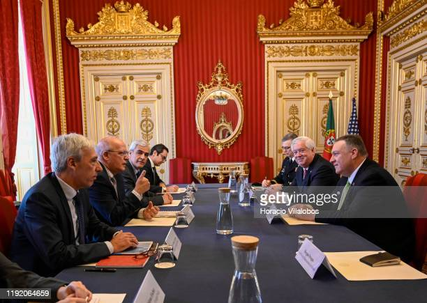 Secretary of State Mike Pompeo meets with Portuguese Foreign Minister Augusto Santos Silva and the Minister of National Defense, João Gomes Cravinho...