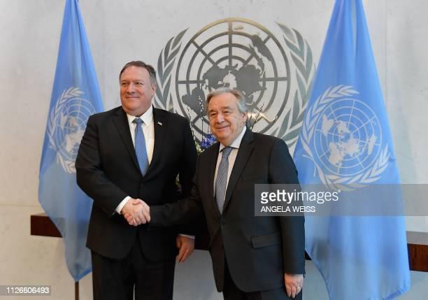 NY: Secretary Of State Pompeo Meets With UN Secretary-General  Antonio Guterres