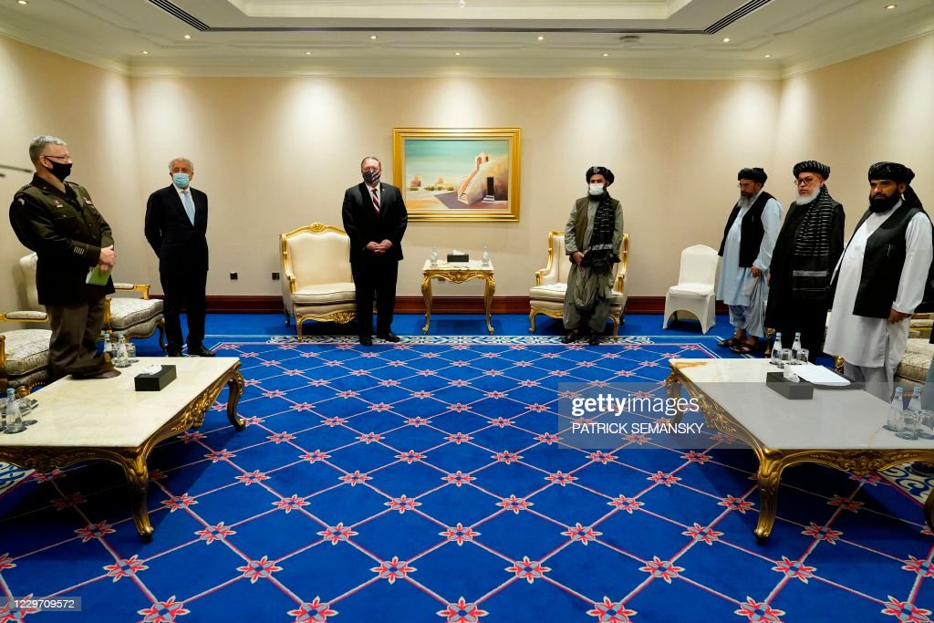 QATAR-US-DIPLOMACY-POMPEO-TALIBAN : News Photo