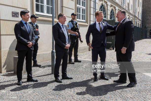Secretary of State, Mike Pompeo, seen at arrival to his meeting with the Danish Foreign Minister, Jeppe Kofod and delegations from Greenland , Steen...