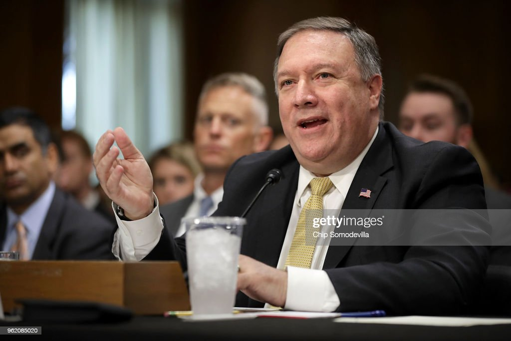 Secretary Of State Mike Pompeo Testifies To Senate Foreign Relations Committee On State Department Budget Request