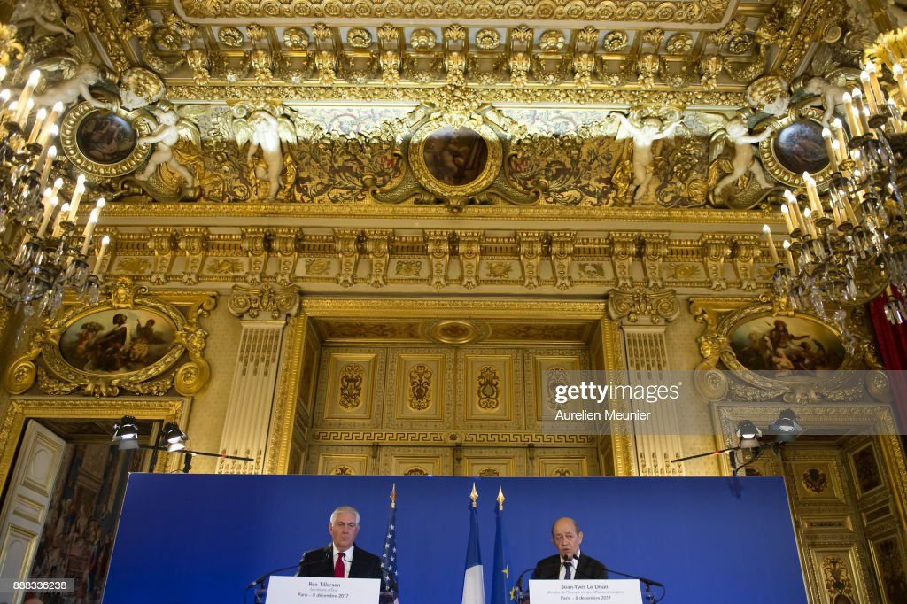 U.S. Secretary of State Rex Tillerson Visits French Ministry Of Foreign Affairs In Paris