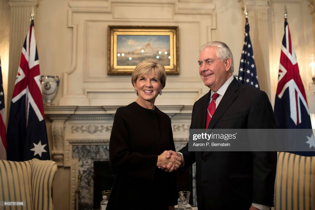 Secretary Of State Rex Tillerson Meets With Australian Foreign Minister Julie Bishop