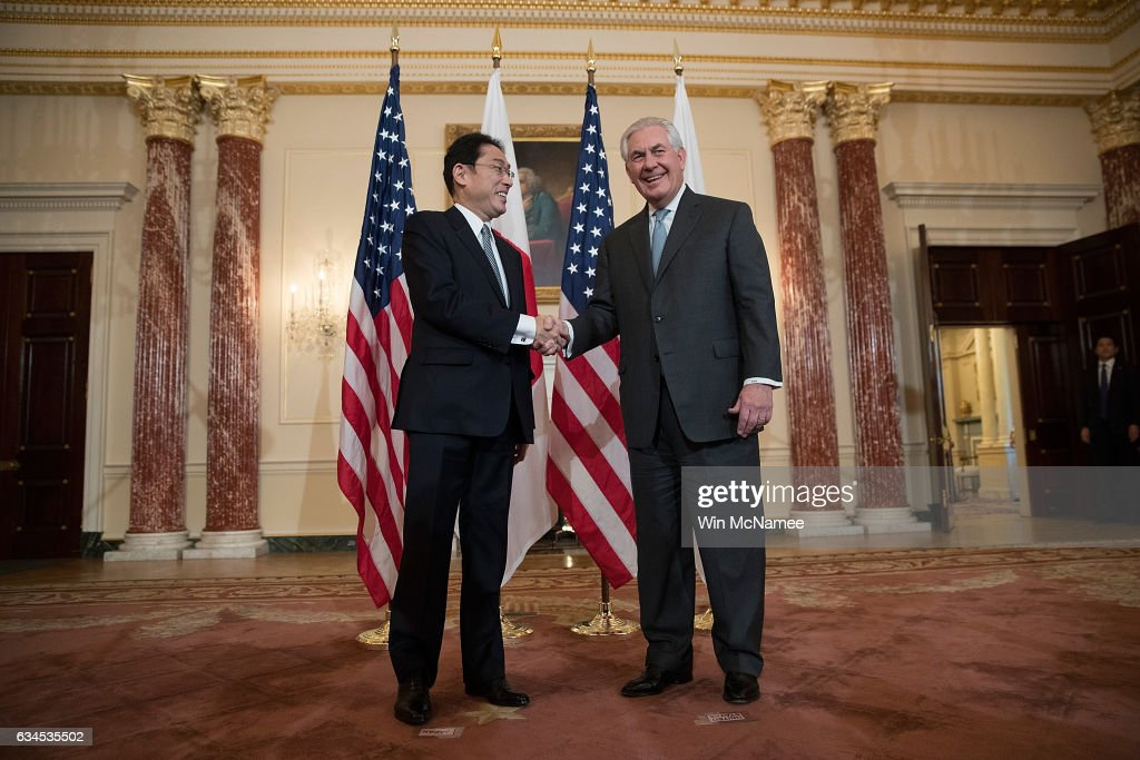 Rex Tillerson Meets With Japanese Foreign Minister Fumio Kishida At State