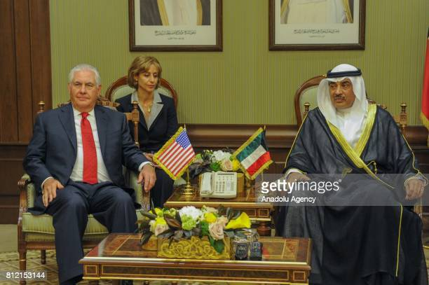 Secretary of State Rex Tillerson meets with Kuwait's Foreign Minister and First Deputy Prime Minister Sheikh Sabah Khalid AlHamad AlSabah at Bayan...