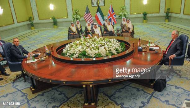 Secretary of State Rex Tillerson meets with Kuwait's Foreign Minister and First Deputy Prime Minister Sheikh Sabah Khalid AlHamad AlSabah and British...