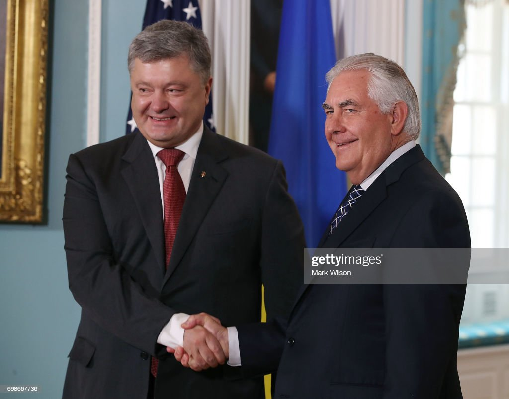Rex Tillerson Meets With Ukrainian President Poroshenko At State Department