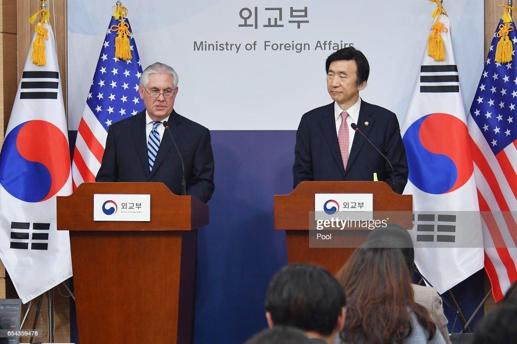 U.S. Secretary Of State Tillerson Visits South Korea