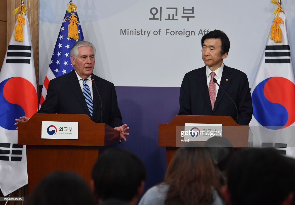 U.S. Secretary Of State Tillerson Visits South Korea