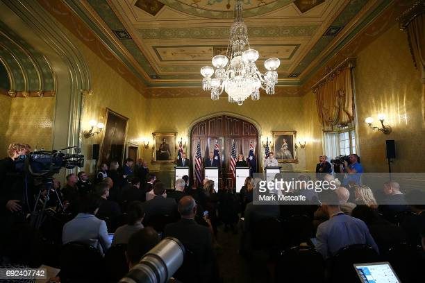 Secretary of State Rex Tillerson, US Secretary of Defence Jim Mattis, Australian Minister for Foreign Affairs Julie Bishop and Australian Minister...
