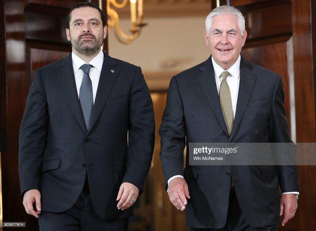 Secretary Of State Rex Tillerson Meets With  Lebanese Prime Minister Saad Hariri At State Department