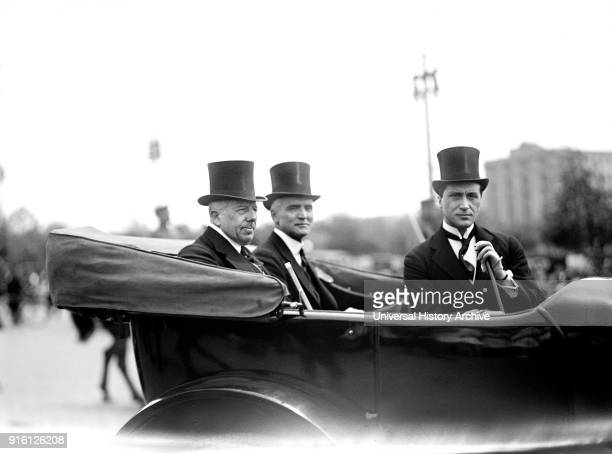 US Secretary of State Robert Lansing Portrait in Automobile Washington DC USA Harris Ewing 1916