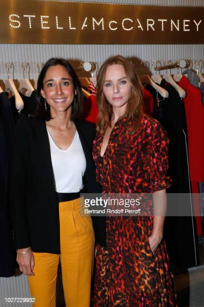 Secretary of State to the Minister of the Ecological and Solidarity Transition Brune Poirson and Stylist Stella McCartney attend the Go For Good X...