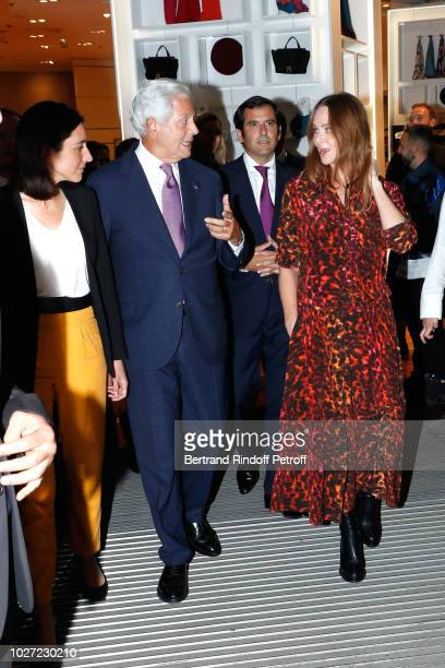 Secretary of State to the Minister of the Ecological and Solidarity Transition Brune Poirson Chairman of the Board of Galeries Lafayette Group...