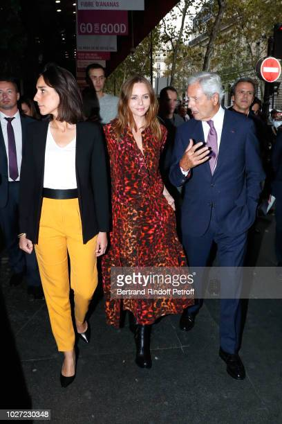 Secretary of State to the Minister of the Ecological and Solidarity Transition Brune Poirson Stylist Stella McCartney and Chairman of the Board of...