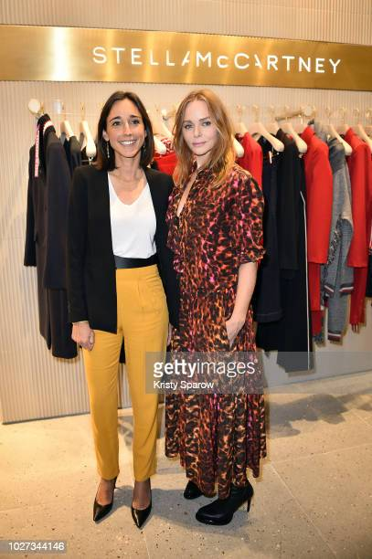 Secretary of State to the Minister of the Ecological and Solidarity Transition Brune Poirson and Designer Stella McCartney attend the 'Go For Good X...