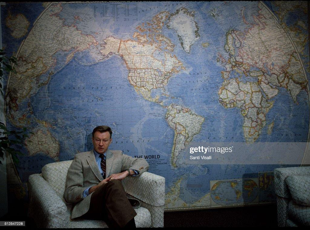 Secratary Of State Zbigniew Brzezinski Posing For A Photo : News Photo