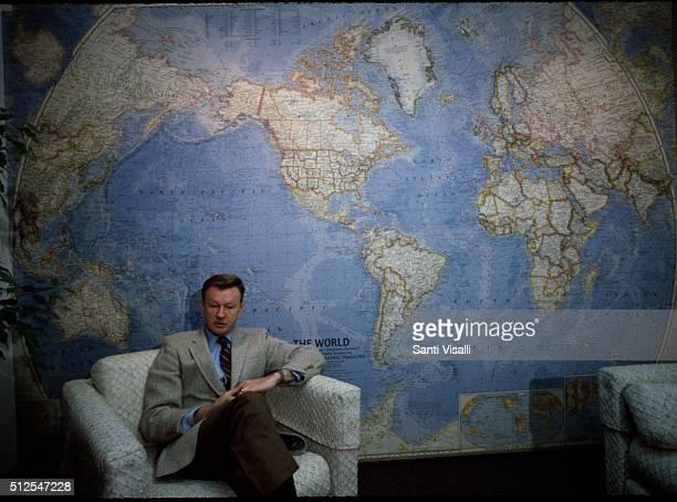 Secretary of State Zbigniew Brzezinski posing for a photo on March 8 1982 in New York New York