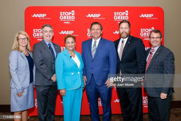 Secretary of the Agency for Health Care Administration Mary Mayhew AARP Florida State Director Jeff Johnson AARP CEO Jo Ann Jenkins Florida Governor...