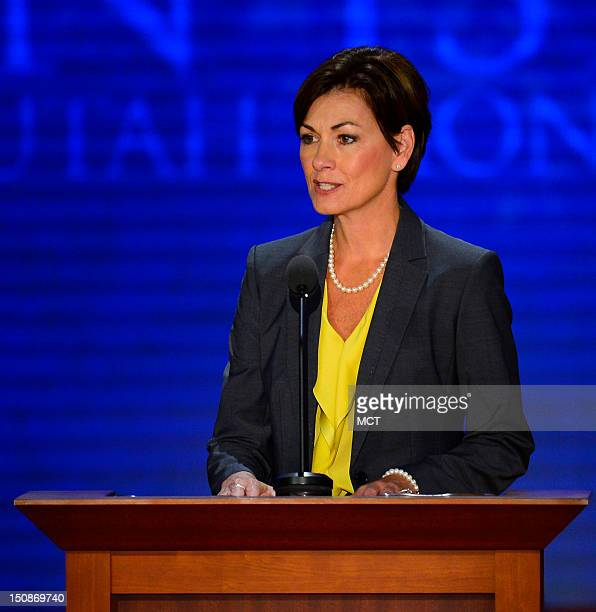 Secretary of the convention Lt Gov Kim Reynolds delivers remarks as RNC chairman at the second session of the 2012 Republican National Convention at...