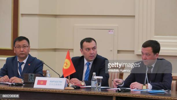 Secretary of the Council of Security of Kyrgyzstan Temir Cumakadrov takes part in the SCO National Security Council Secretaries' meeting in Astana...