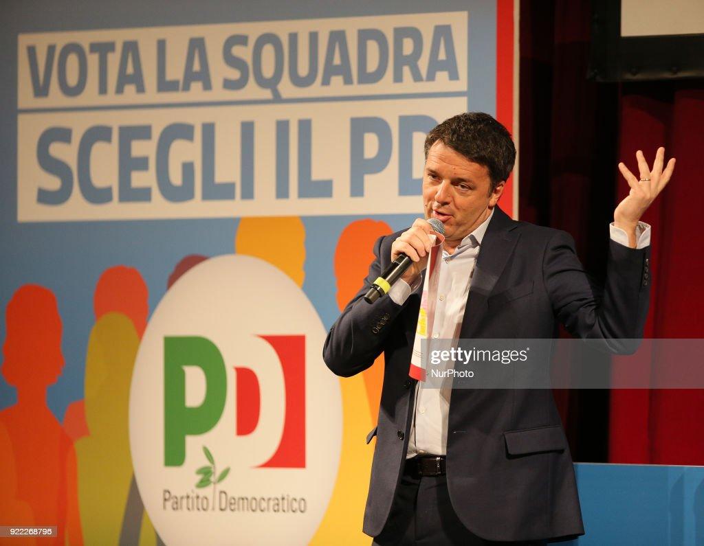 Matteo Renzi election campaign in Sicily : News Photo