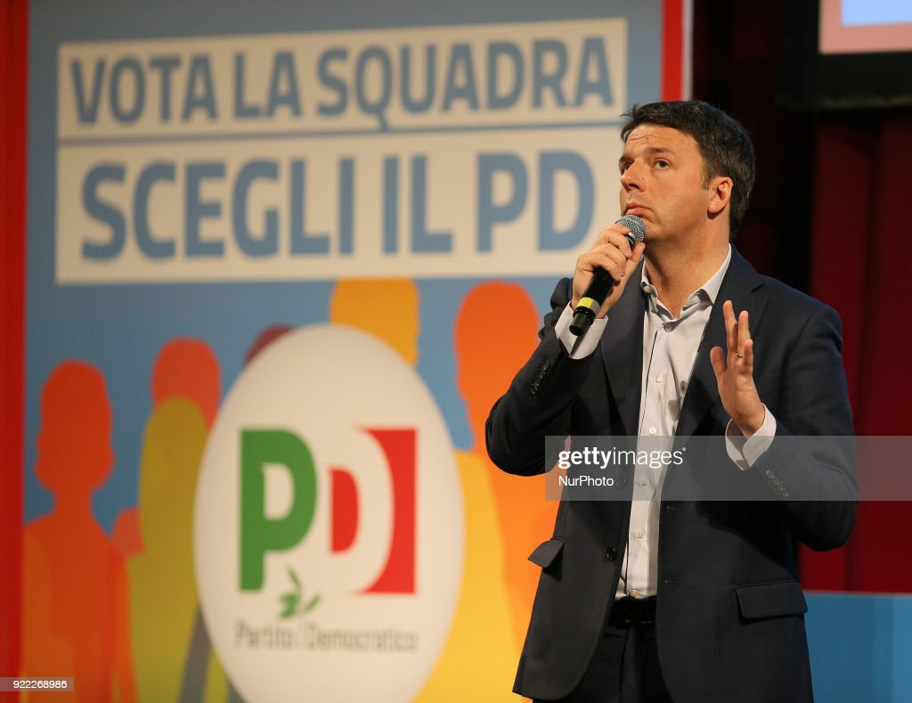Matteo Renzi election campaign in Sicily : News Photo