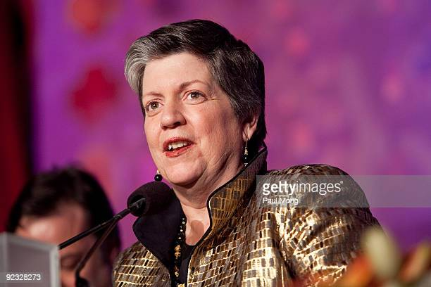 Secretary of the Department of Homeland Security Janet Napolitano makes a few remarks after receiving the 2009 NIAF Special Achievement Award for...