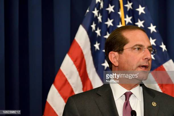 Secretary of the Dept of Health and Human Services Alex M Azar II attend the conference on Neonatal Abstinence Syndrome at Thomas Jefferson...