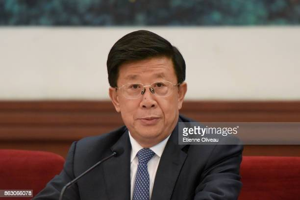 Secretary of the Hebei CPC Provincial Committee Zhao Kezhi attends a meeting of the 19th Communist Party Congress at the Great Hall of the People on...