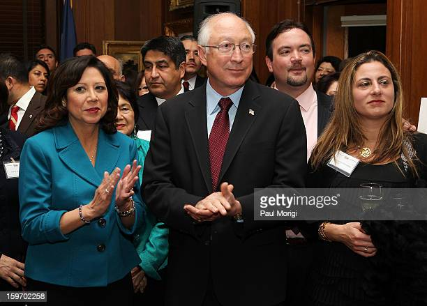 Secretary Of The Interior Ken Salazar and Secretary of Labor Hilda Solis attend a reception to recognize The National Park Service and The American...