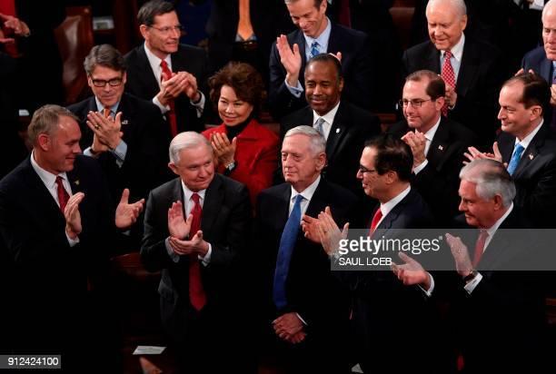 US Secretary of the Interior Ryan Zinke US Attorney General Jeff Sessions Secretary of the Treasury Steven Mnuchin and US Secretary of State Rex...
