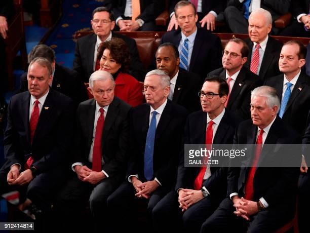US Secretary of the Interior Ryan Zinke US Attorney General Jeff Sessions US Secretary of Defense General Jim Mattis Secretary of the Treasury Steven...