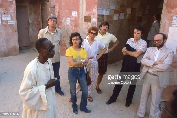 Secretary of the Italian Socialist Party Bettino Craxi is with singer Ornella Vanoni and journalist Paolo Frajese in Kenya in 1981