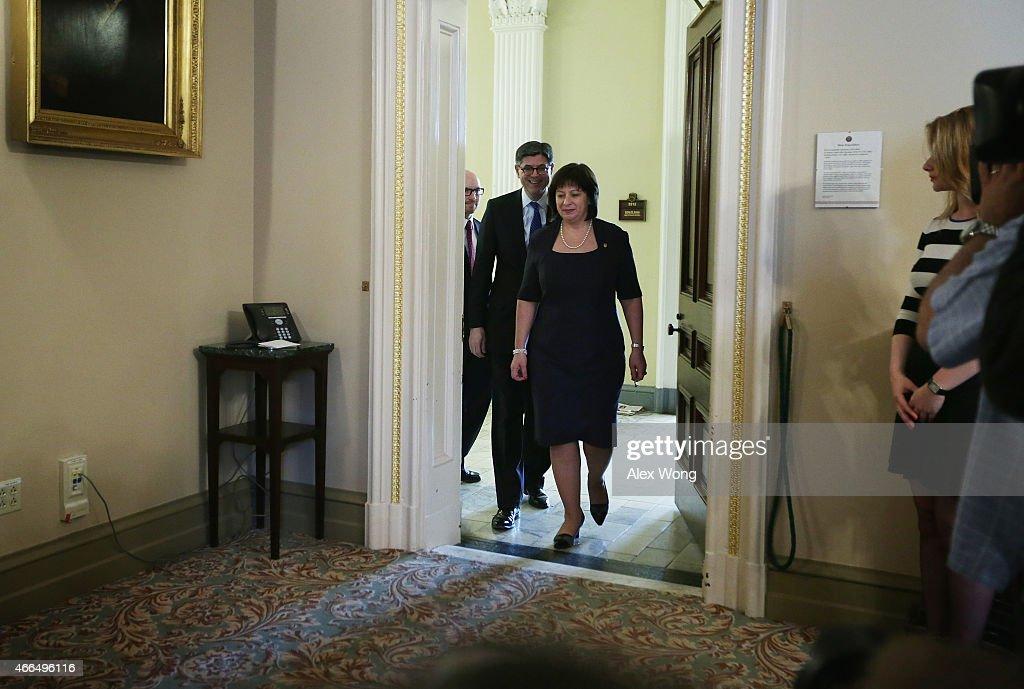 Jacob Lew Meets With Ukrainian Finance Minister Natalie Jaresko At Treasury : News Photo