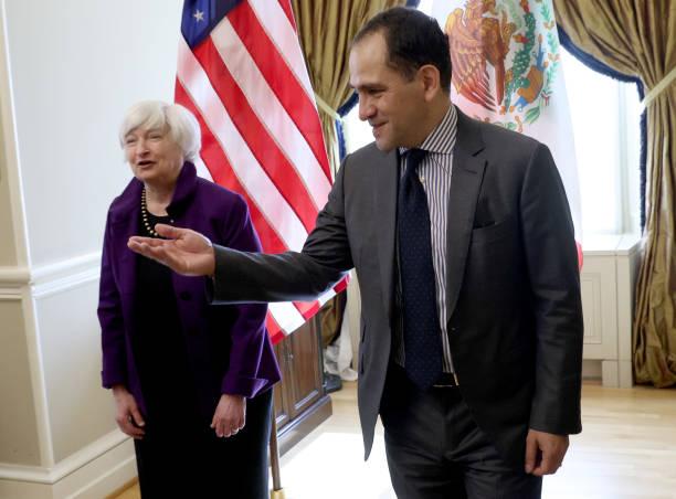 DC: Treasury Secretary Janet Yellen Meets With Mexican Finance Minister Arturo Herrera Gutiérrez At Dept. of Treasury