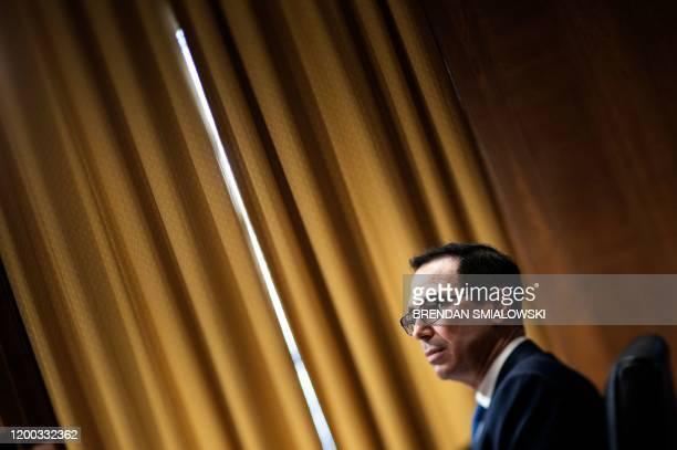 US Secretary of the Treasury Steven Mnuchin attends a hearing of the Senate Finance Committee on Capitol Hill February 12 in Washington DC