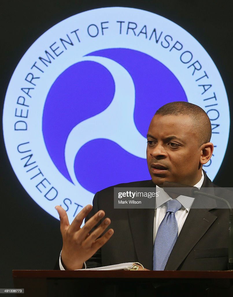 Secretary of Transportation Anthony Foxx announces that General Motors has agreed to pay a $35 million civil penalty during a news conference at the Department of Transportation May 16, 2014 in Washington DC. Secretary Foxx said that GM violated federal safety laws in the Chevrolet Cobalt investigation.
